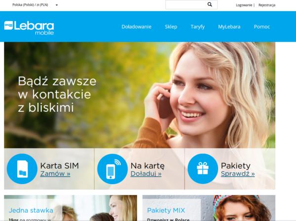 Lebara Mobile nowa strona www