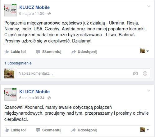 KLUCZ Mobile awaria