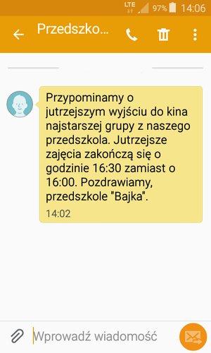 Powiadomienie SMS