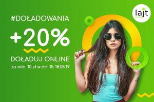 Kolejna promocja doładowań w lajt mobile, do zgarnięcia 20% wartości zasilenia